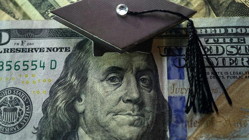 College and money stock photo