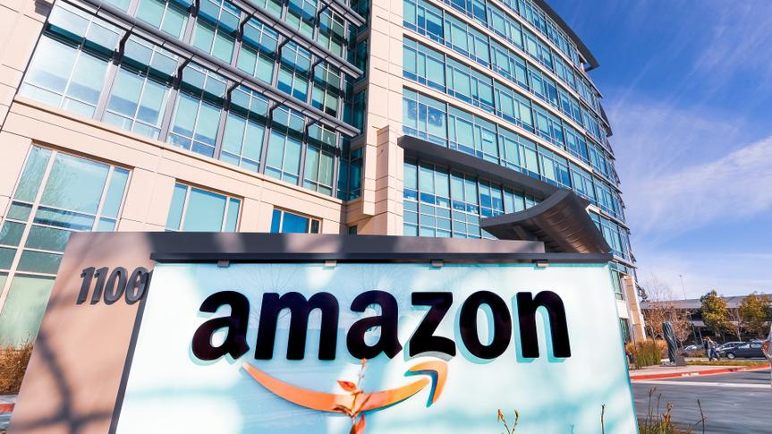 Amazon headquarters located in Silicon Valley stock photo