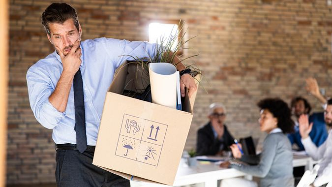 What should I do now without a job? stock photo