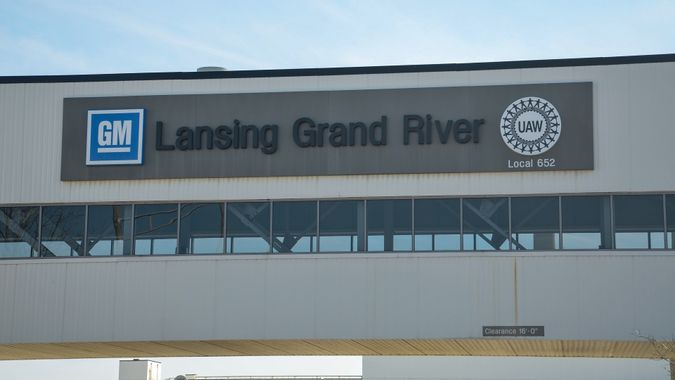 Lansing GM Grand River plant stock photo