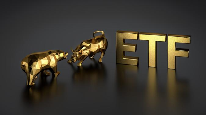 Exchange traded fund concept.