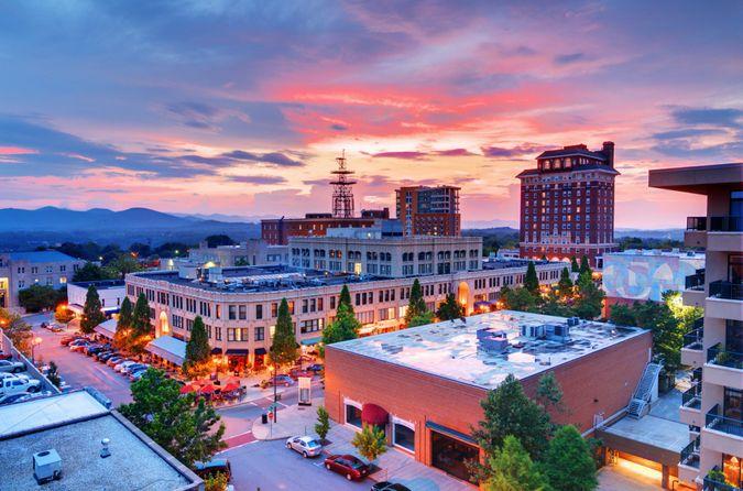 Downtown Asheville, North Carolina at Grove Arcade.