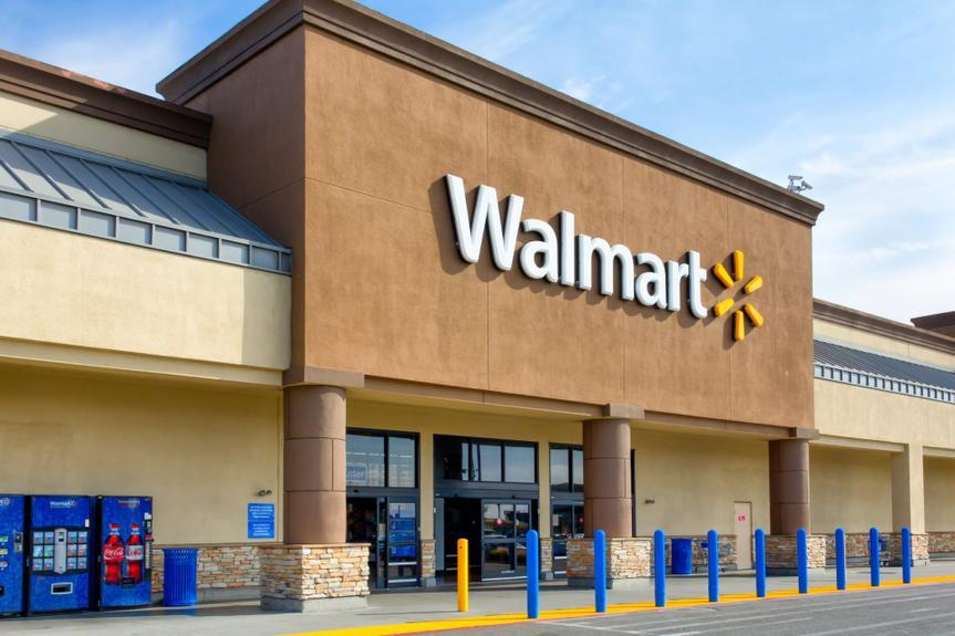 Salinas, United States - April 8, 2014: Walmart store exterior.