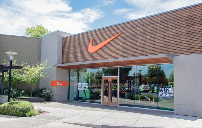 Eugene, Oregon, USA - July 8, 2014: Nike Clothing Store location in Eugene, Oregon.