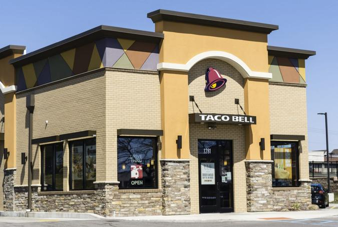 Rochester Hills, Michigan, USA - April 17, 2016: A Taco Bell in Rochester Hills, Michigan.