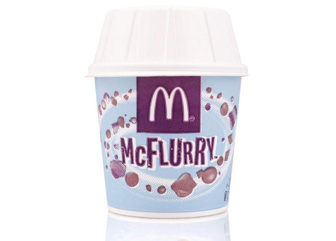 Belgrade, Serbia - November 5, 2014: McFlurry ice cream on white background.