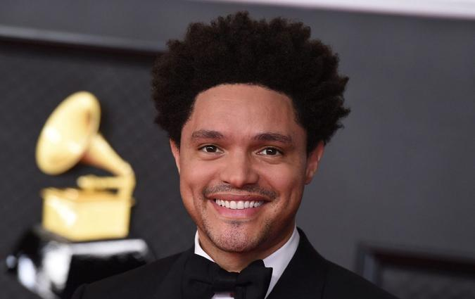 Mandatory Credit: Photo by Jordan Strauss/AP/Shutterstock (11799829k)Trevor Noah arrives at the 63rd annual Grammy Awards at the Los Angeles Convention Center on March 14 with both live and prerecorded segments63rd Annual Grammy Awards - Arrivals, Los Angeles, United States - 14 Mar 2021Wearing Gucci.
