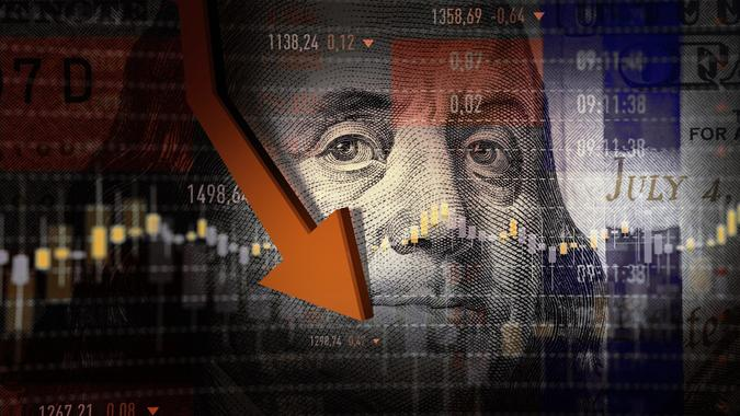 Economy Crash stock photo