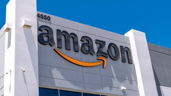 Las Vegas,Nevada, United States - June 18, 2020: Amazon fulfillment center exterior shot in North Las Vegas Nevada USA .