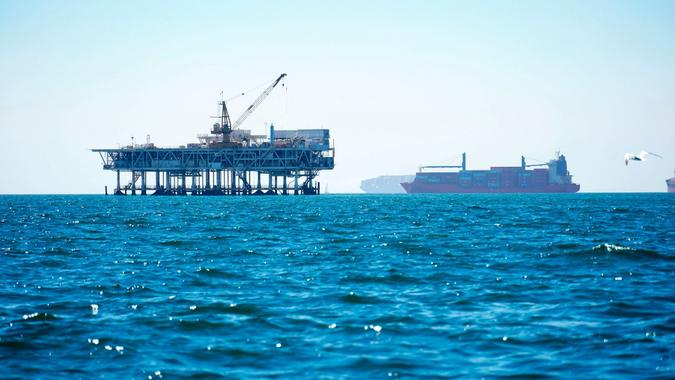 California Oil Spill Anchored Ships, United States - 05 Oct 2021