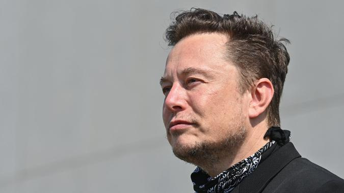 Mandatory Credit: Photo by Action Press/Shutterstock (12276248c)Elon Musk, Tesla CEO, is on the premises of Tesla Gigafactory at a press meeting.