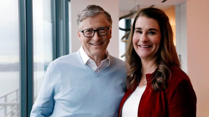 Mandatory Credit: Photo by Elaine Thompson/AP/Shutterstock (10103068b)Bill Gates, Melinda Gates.