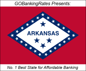 Arkansas best state affordable banking