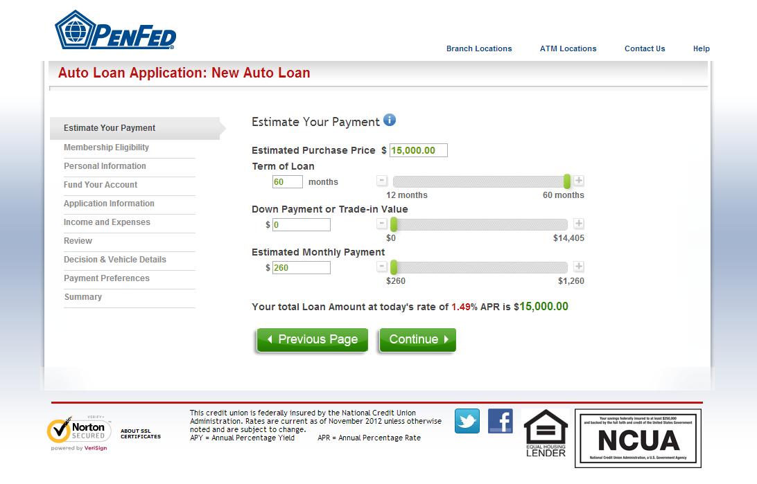 PenFed auto loans