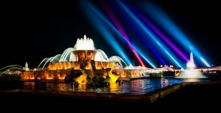 Summer Vacation Chicago Buckingham Fountain