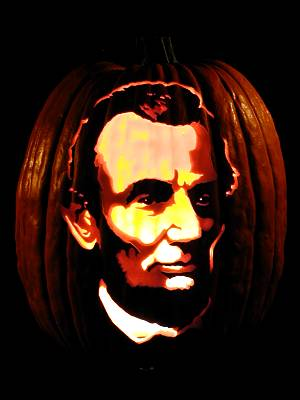 abraham lincoln pumpkin carving