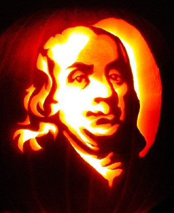 benjamin franklin pumpkin carving