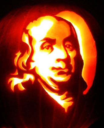 benjamin franklin pumpkin carving