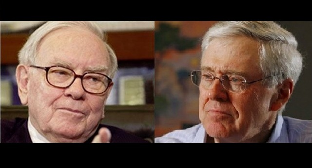 Buffett Versus Koch: Billionaires Who Would (and Wouldn't) Pay Higher Taxes