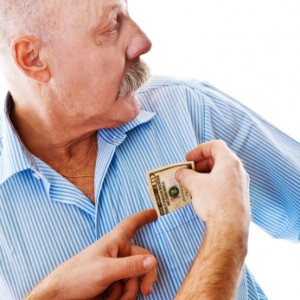 financial abuse Making or attempting to make a person financially dependent, eg, maintaining total control over financial resources and withholding access to money, are some forms of financial abuse (also called economic abuse.