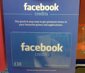 Facebook gift cards?!