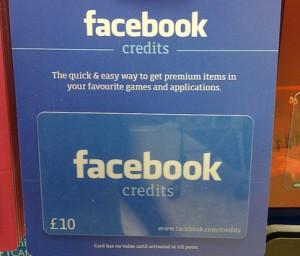 Facebook gift cards?!
