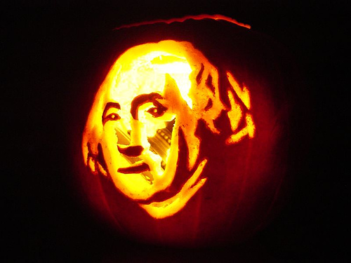 george washington pumpkin carving