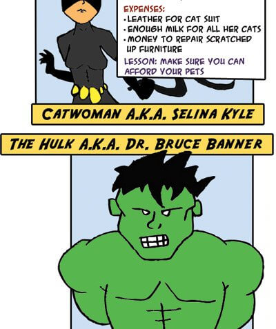 Financial Lessons from Comic Book Heroes (Infographic)