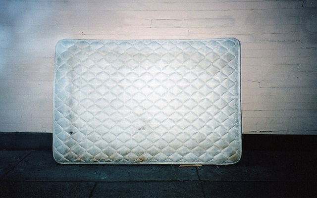 saving money in a mattress