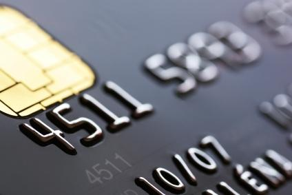 Credit card background, shallow DOF